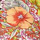 発色 ビビッド 花柄 ワンピ