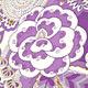紫 レタス ワンピ